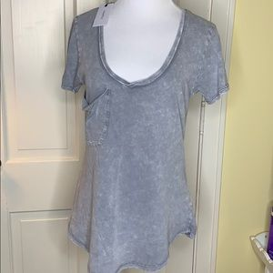 New Z Supply Washed Cotton Gray tee - Small